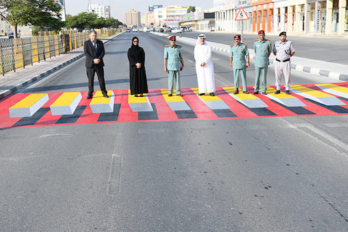 UAE introduces 3D pedestrian crossings